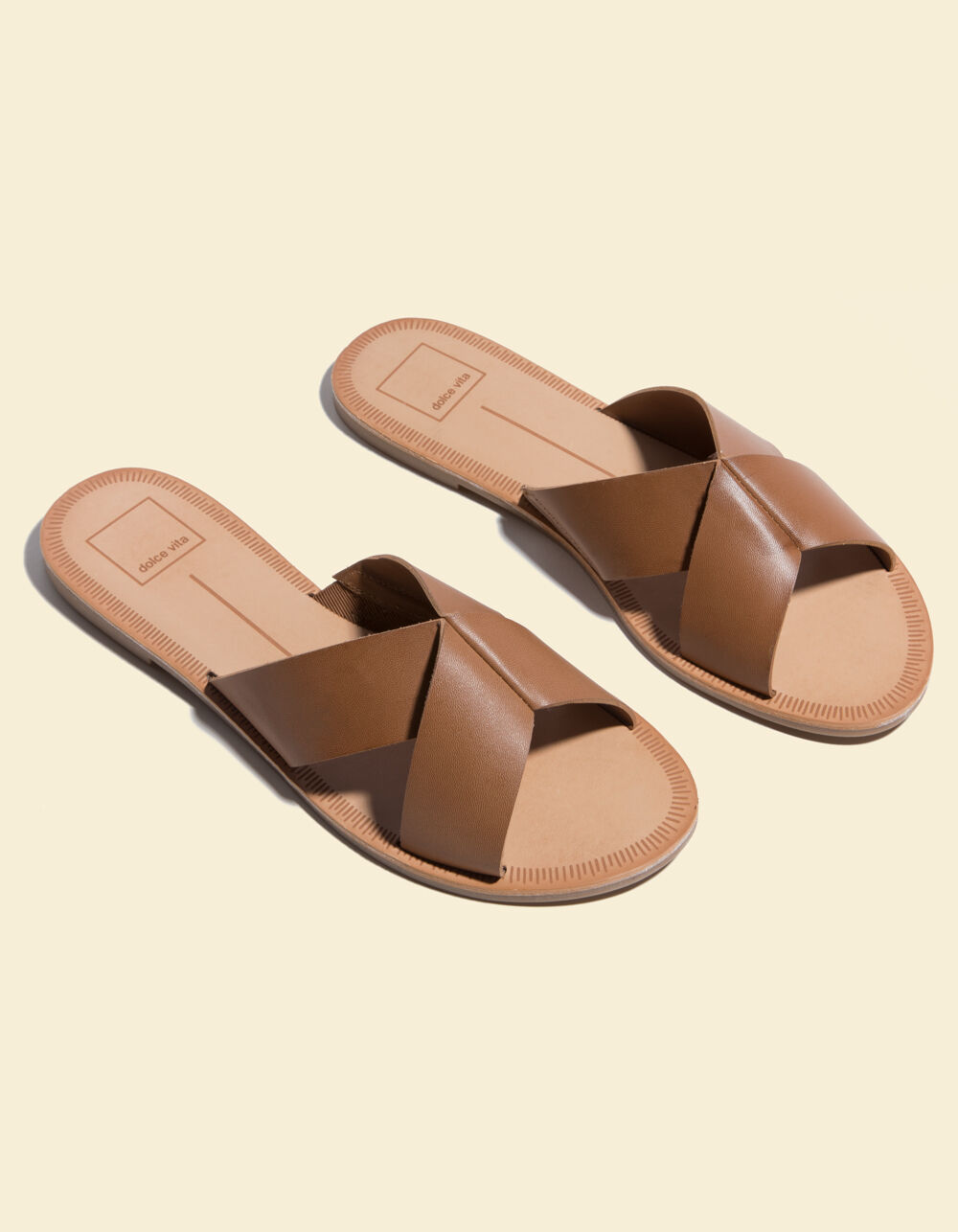 Image of DOLCE VITA CHAIA CARAMEL SANDALS