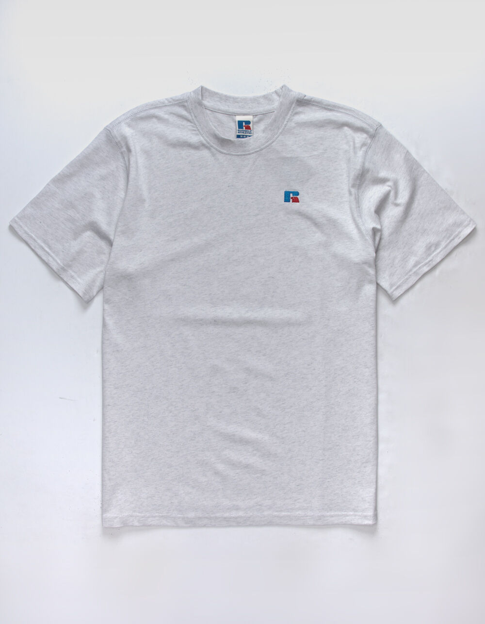 RUSSELL ATHLETIC Baseliner Silver Marl T-Shirt
