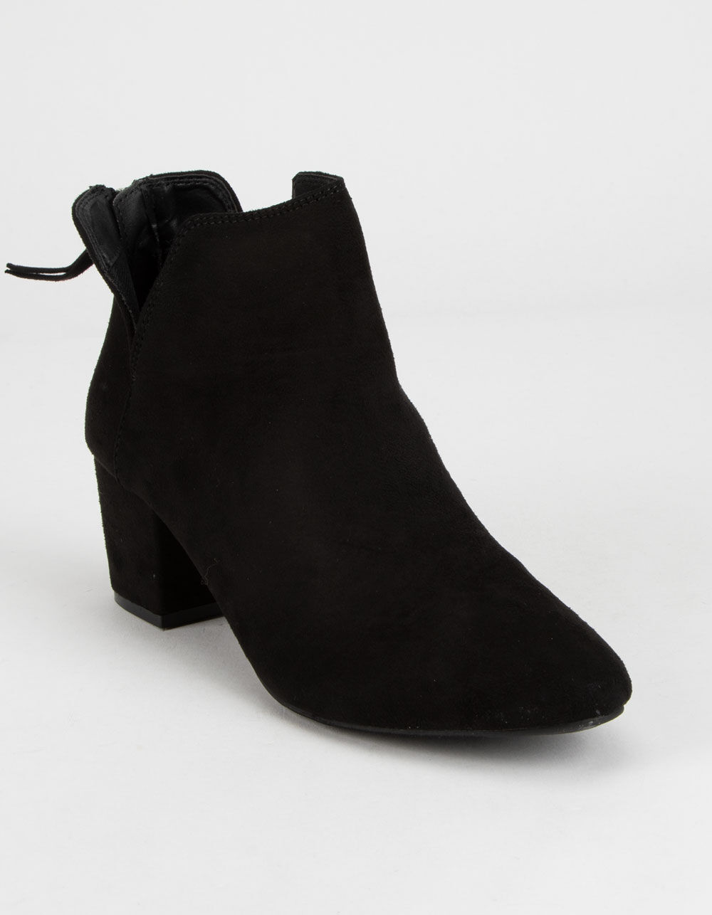 QUPID Chop Out Black Booties