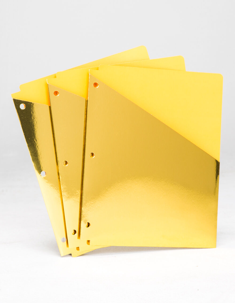 Image of 3 PACK METALLIC GOLD BINDER FOLDERS