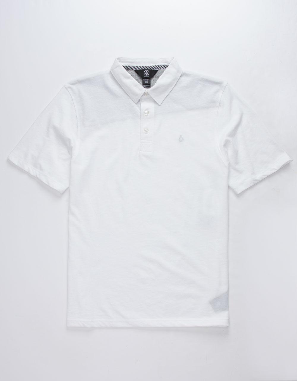 VOLCOM Wowzer White Boys Polo Shirt