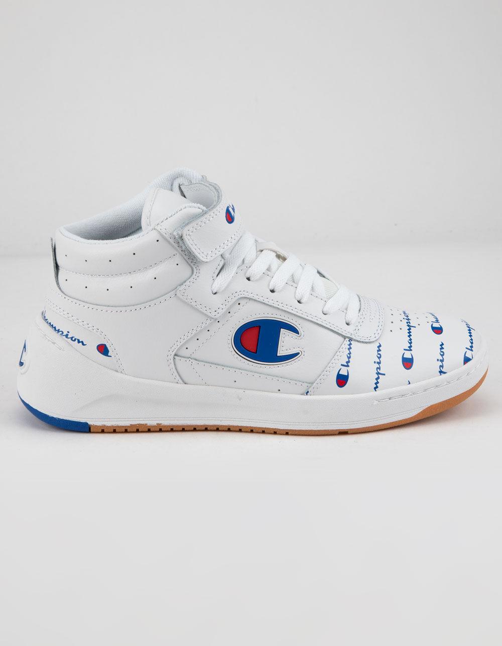 CHAMPION Super C Court Leather Print White Shoes