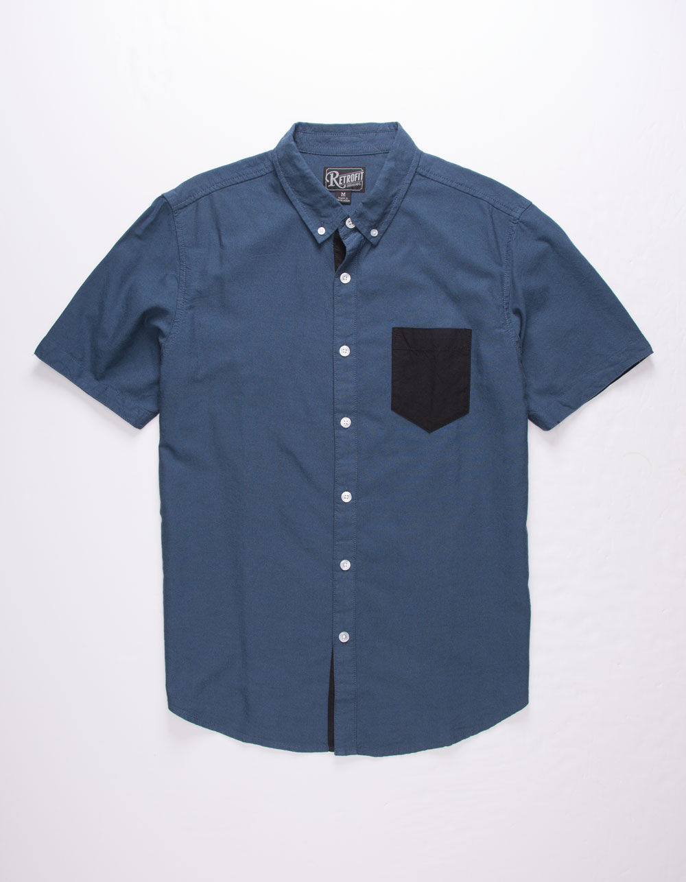Image of RETROFIT Contrast One Pocket Oxford Shirt