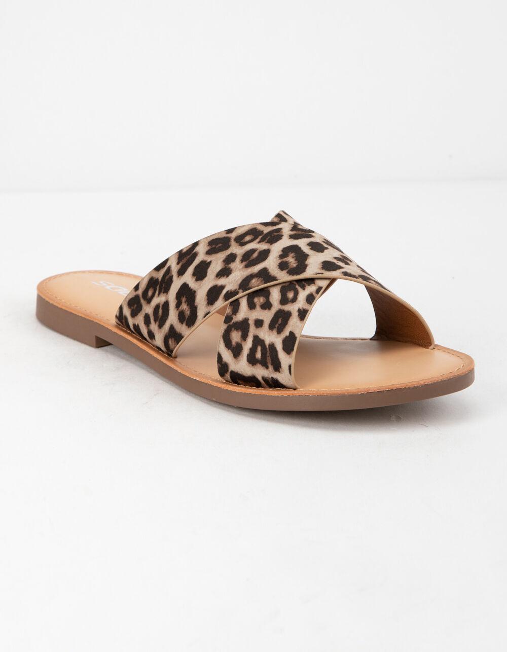 SODA Lunacy Leopard Sandals