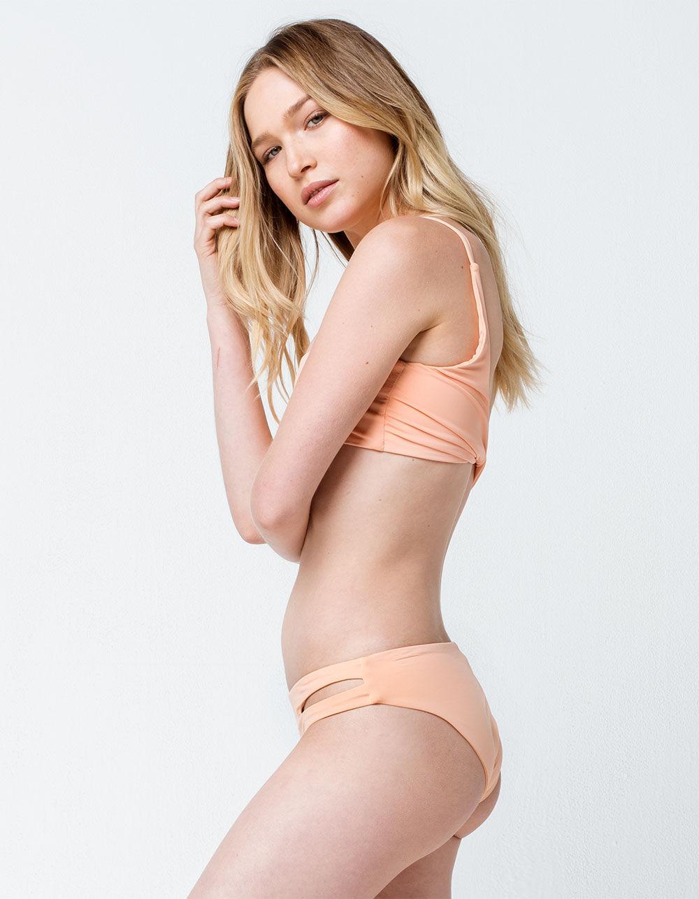DIPPIN' DAISY'S Cutout Hipster Apricot Bikini Bottoms