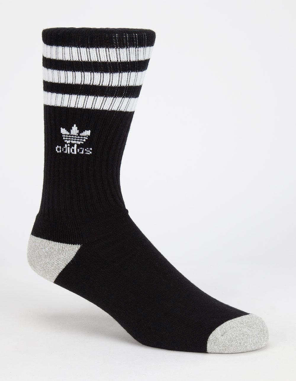 Mens Originals Crew Socks Black//White//Heather Aluminum One Size