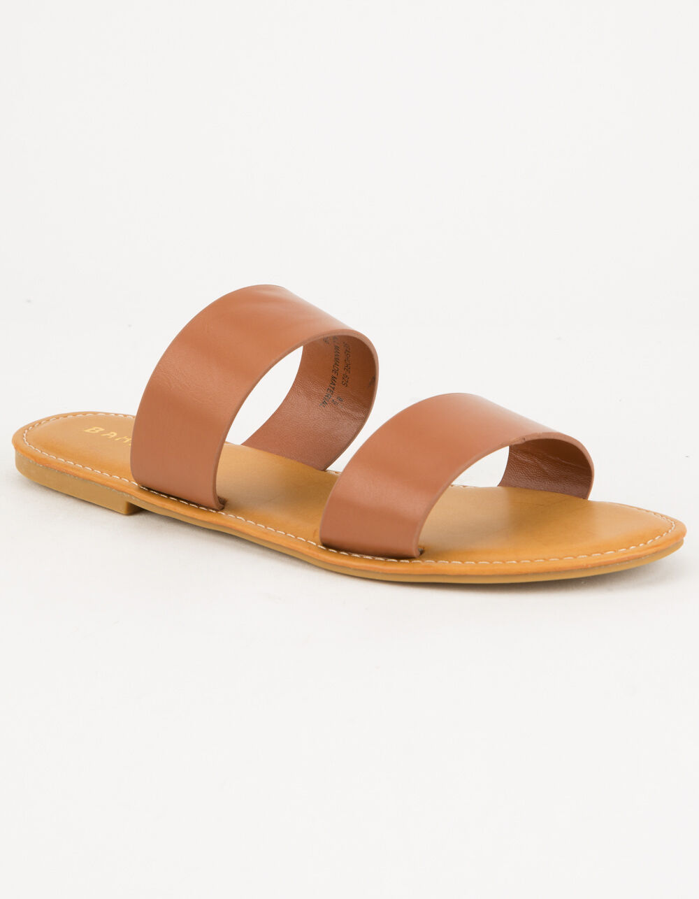 BAMBOO Double Strap Tan Sandals