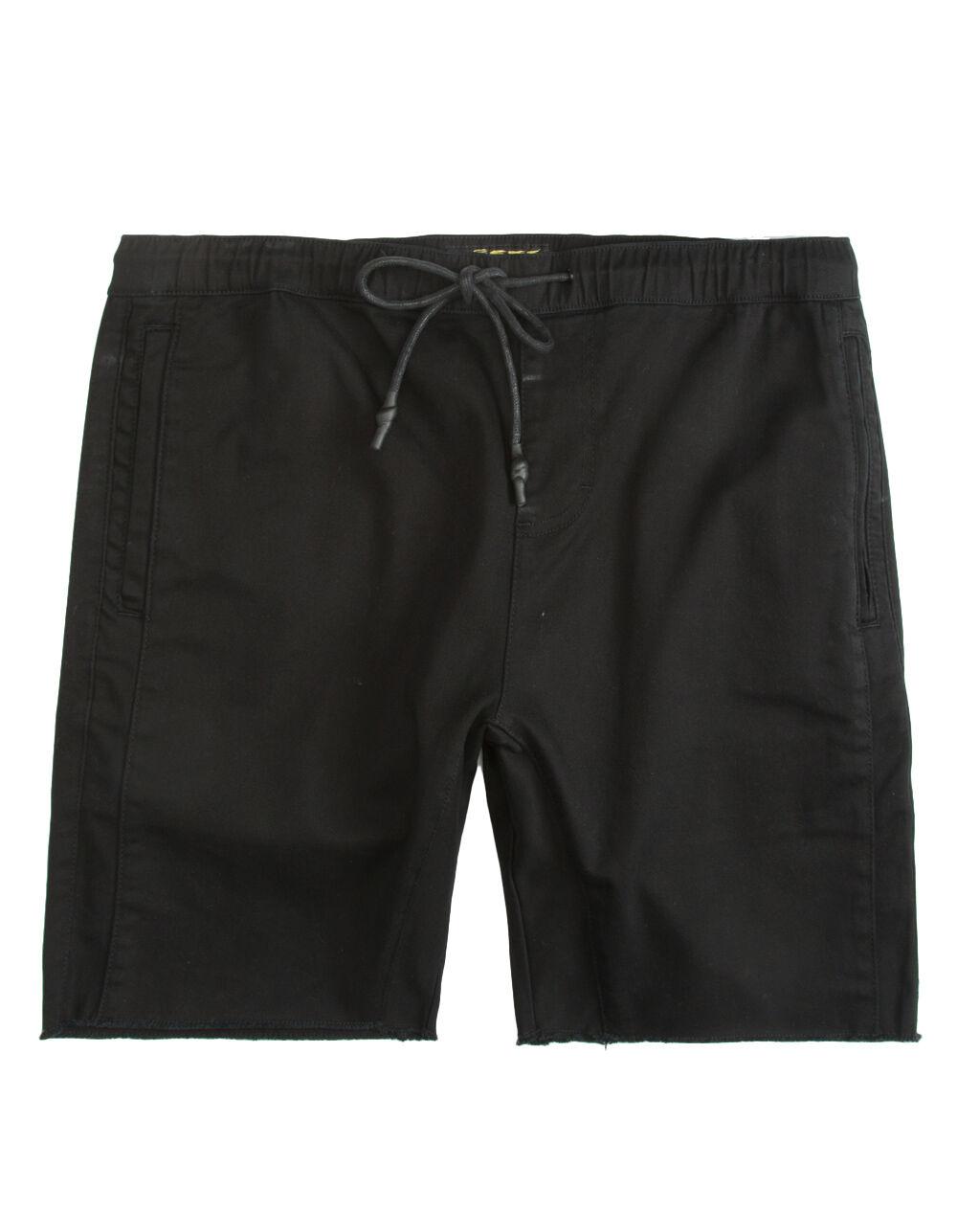 Image of CRASH TWILL BLACK JOGGER SHORTS