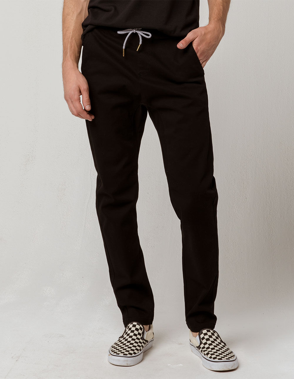 CHARLES AND A HALF Black Chino Jogger Pants