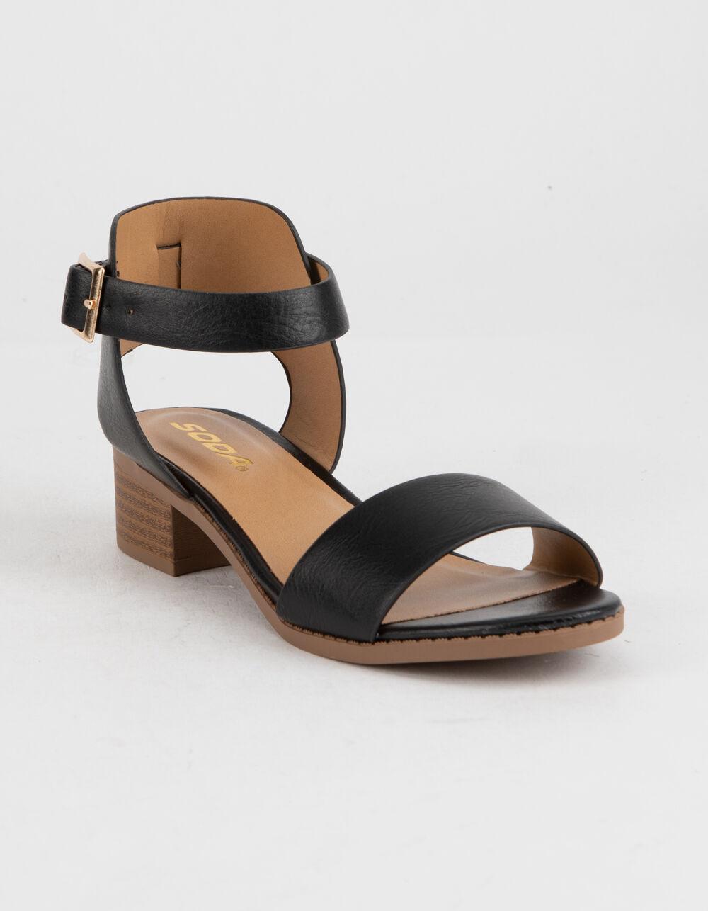 SODA Black Girls Heeled Sandals