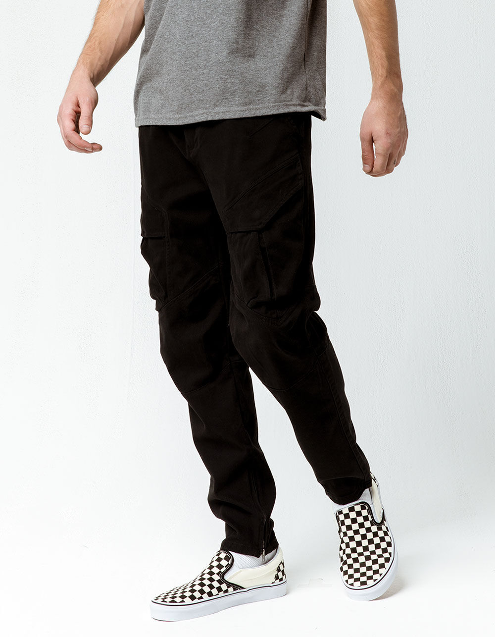 NITROUS BLACK Rooted Cargo Jogger Pants