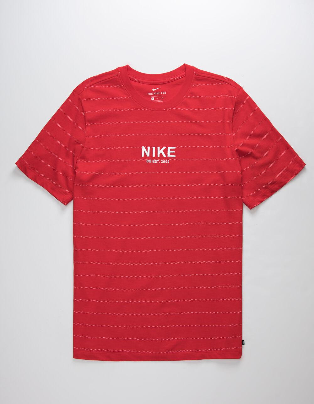 NIKE SB Stripe AOP Red T-Shirt
