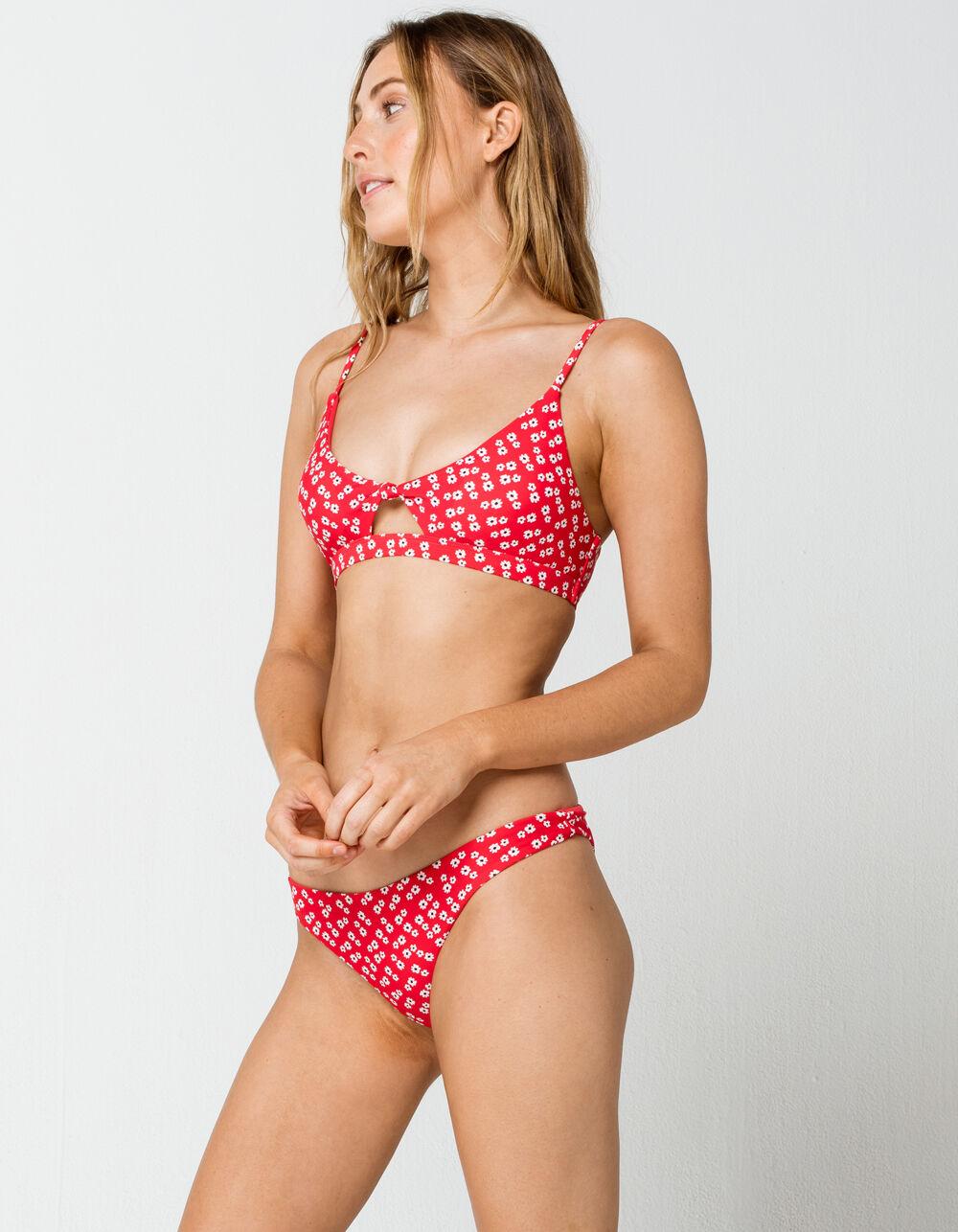 FULL TILT Flower Skimpy Bikini Bottoms