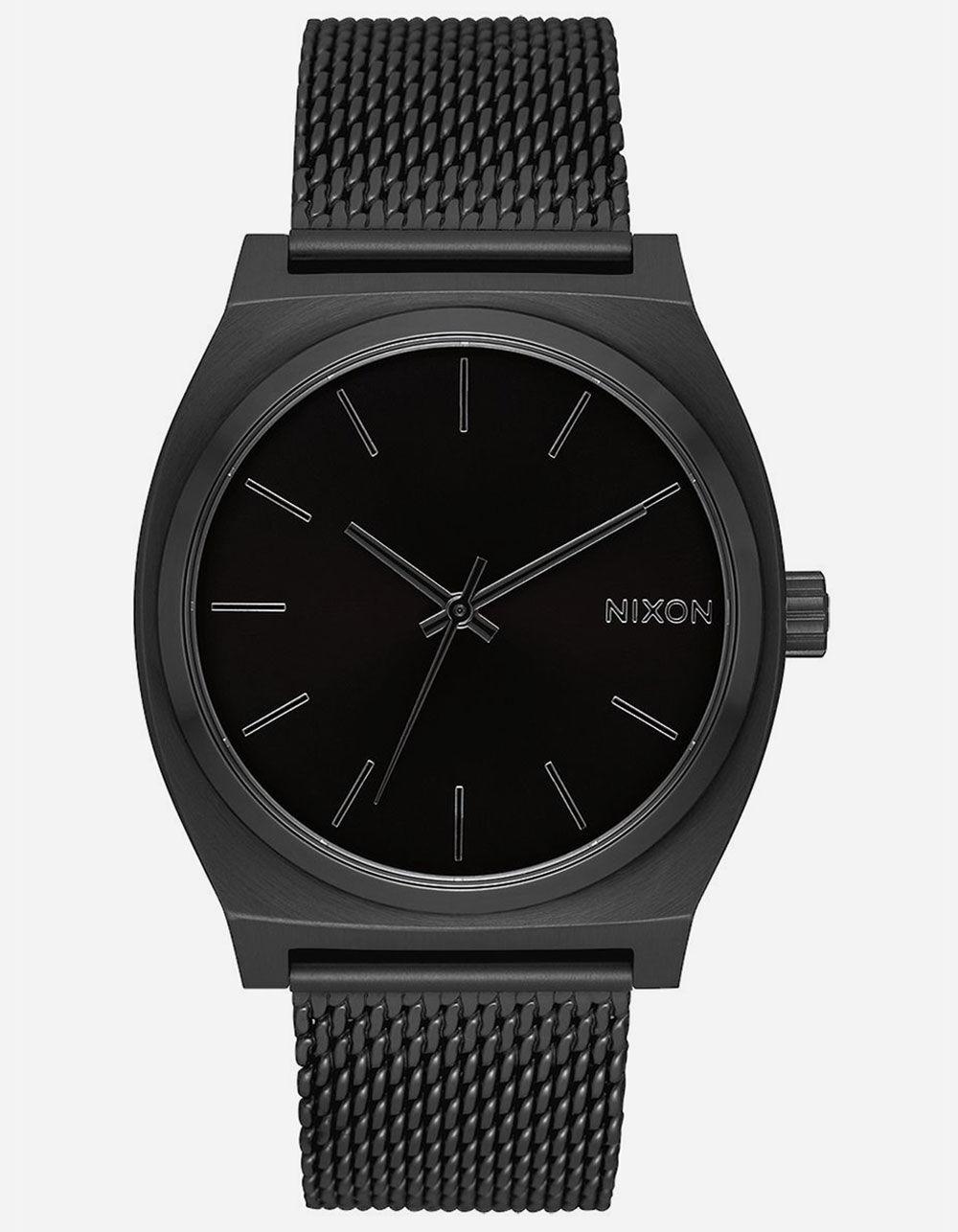 NIXON Time Teller Milanese All Black Watch