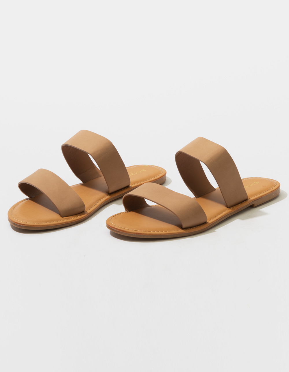 BAMBOO Double Strap Camel Sandals
