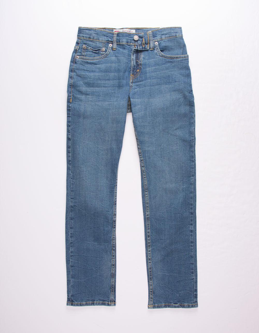 LEVI'S 502 Regular Taper Fit Dark Denim Boys Jeans