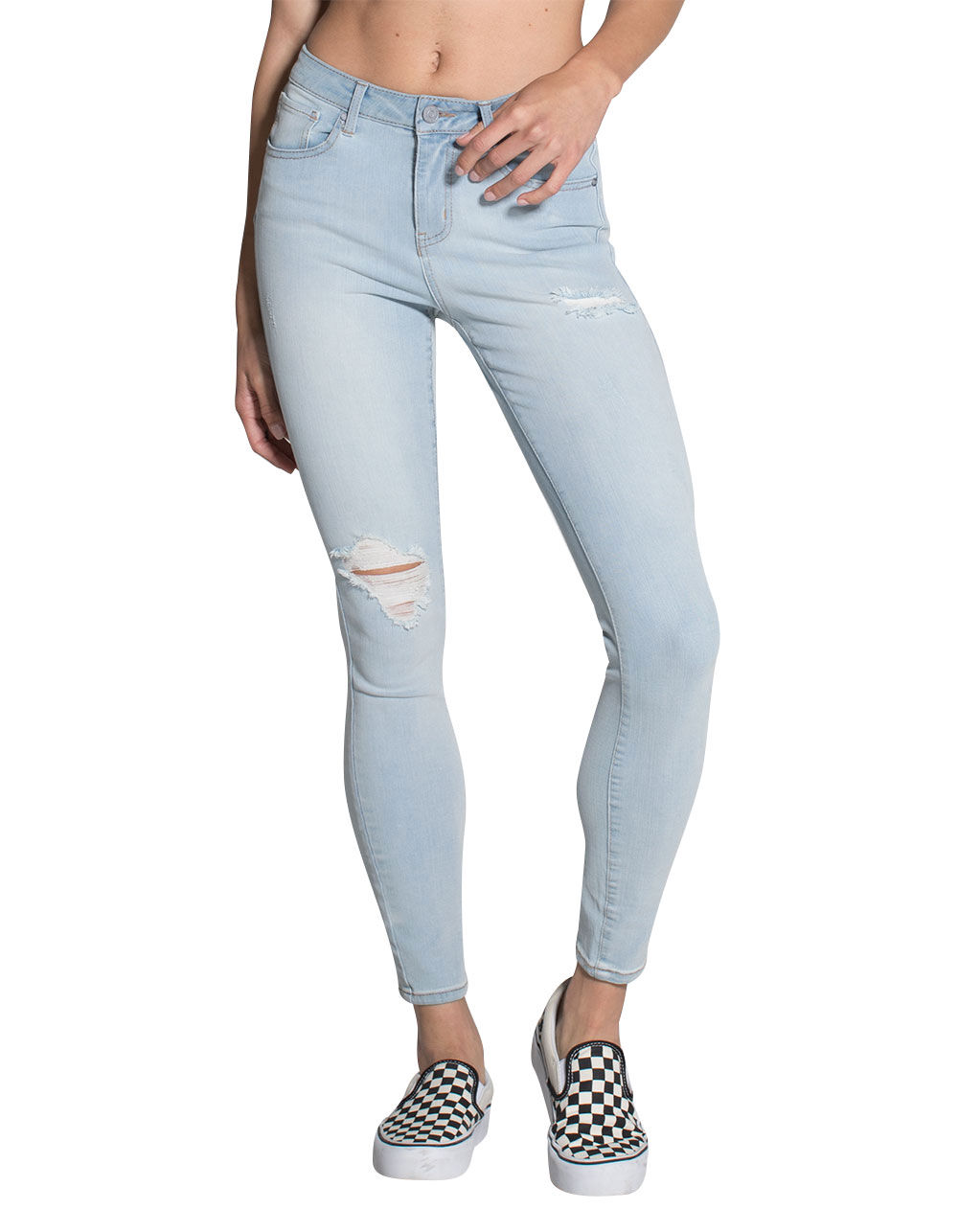 RSQ MIAMI RIPPED JEGGINGS