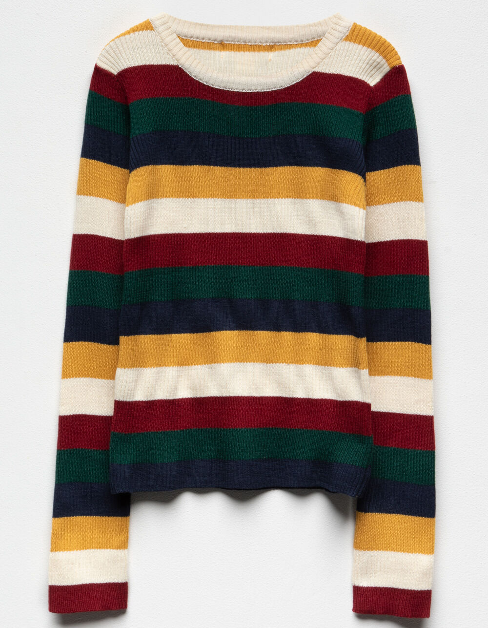 WHITE FAWN Multi Stripe Girls Sweater