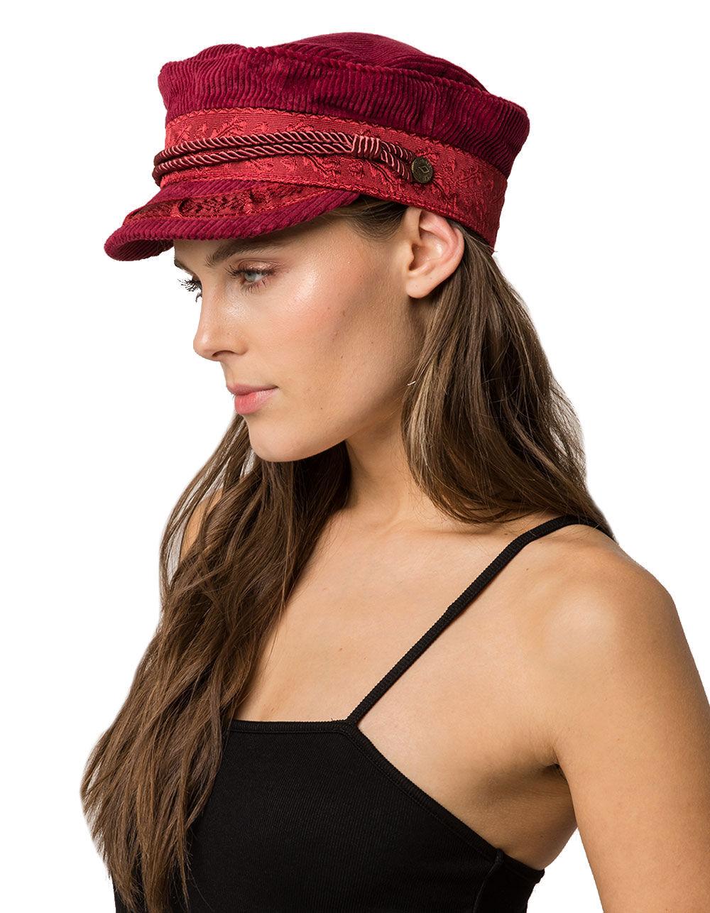 Image of BRIXTON ALBANY BURGUNDY FIDDLER CAP