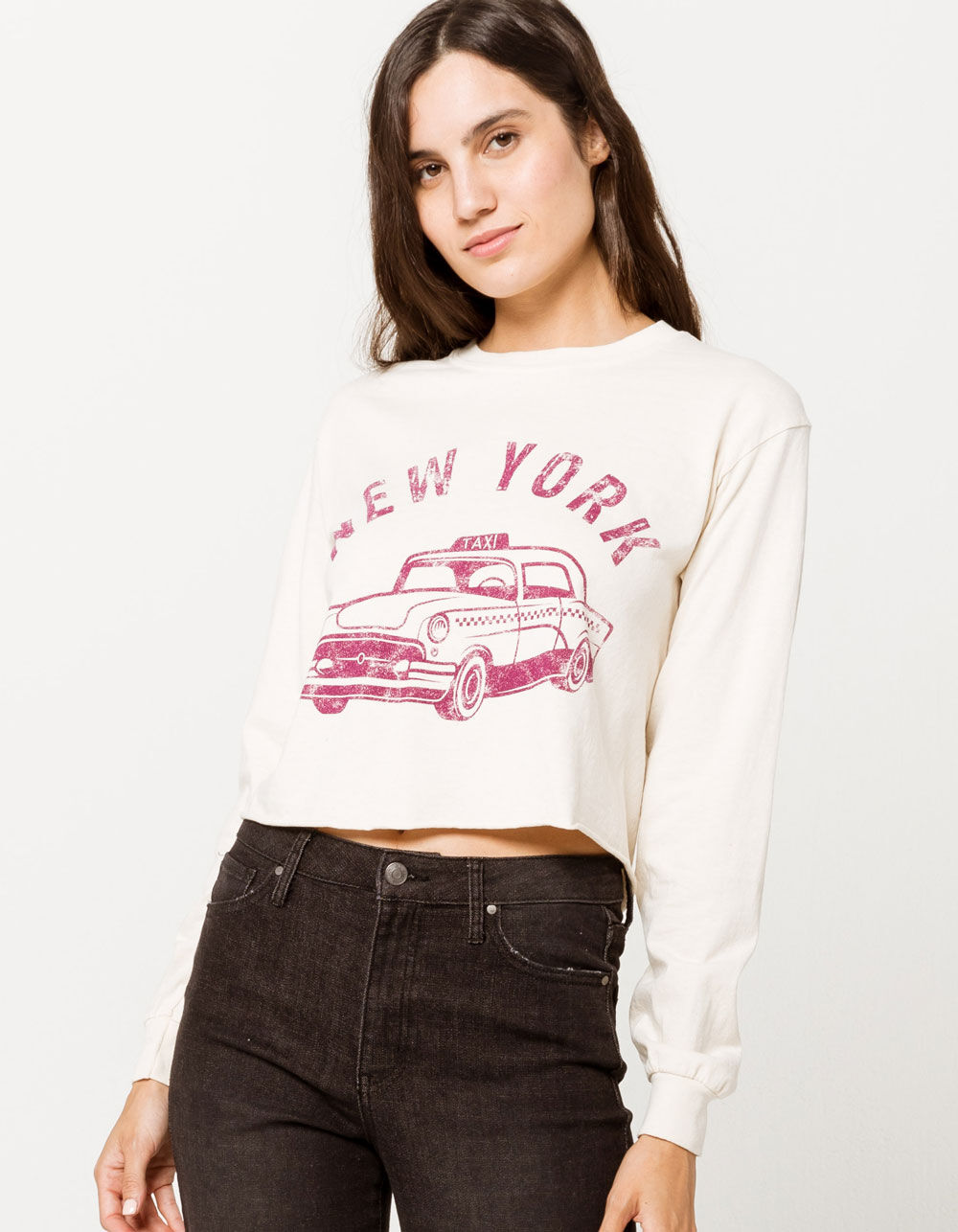 Image of C&P BRANDED New York Taxi Crop Tee