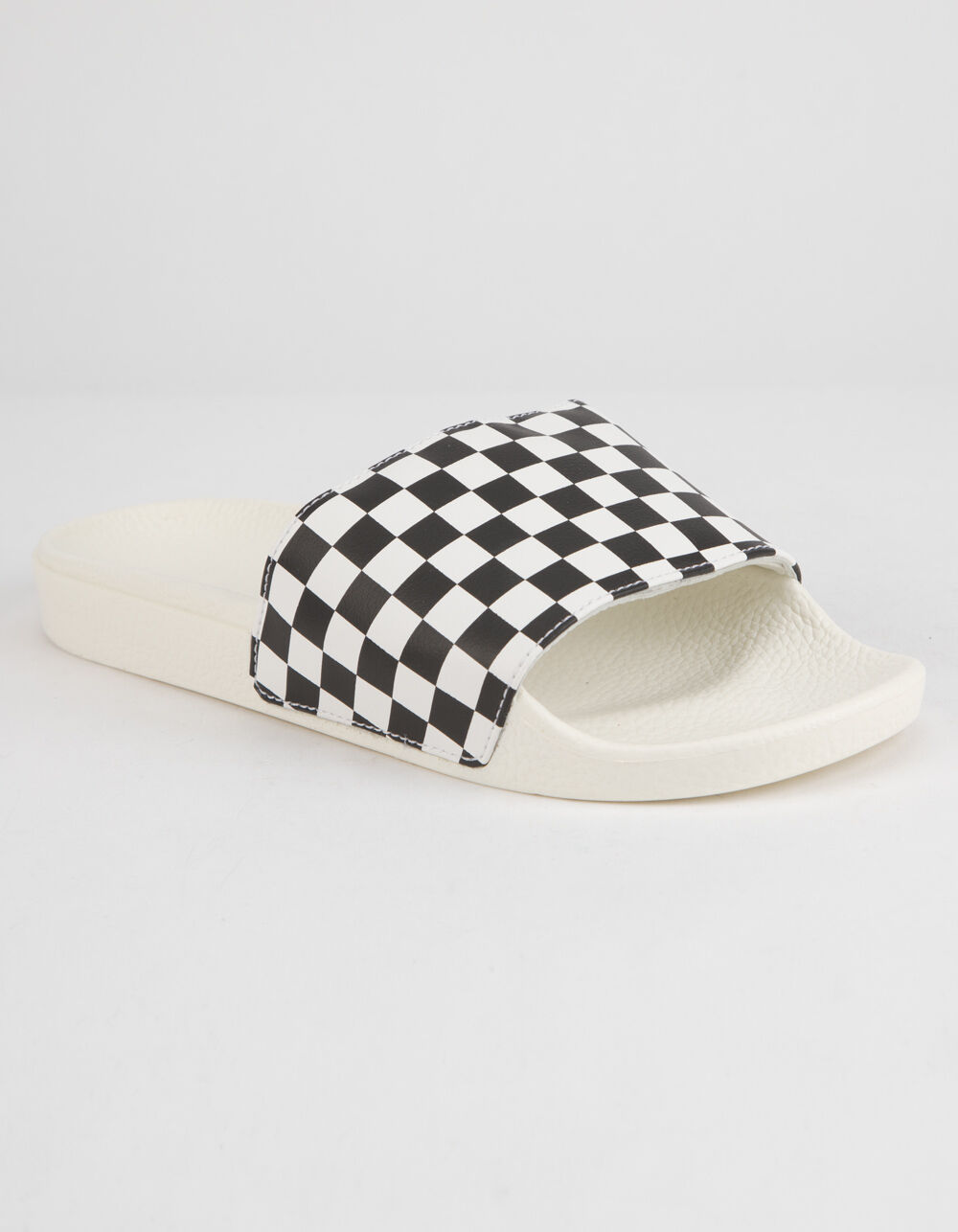 VANS Checkered Black & White Slide Sandals