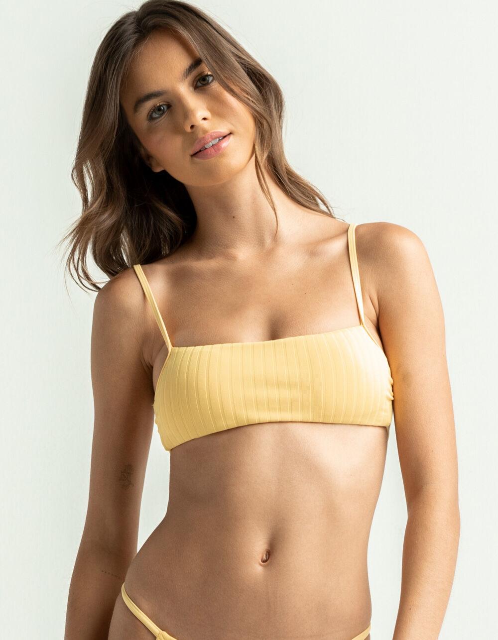 DAMSEL Ribbed Bandeau Bikini Top