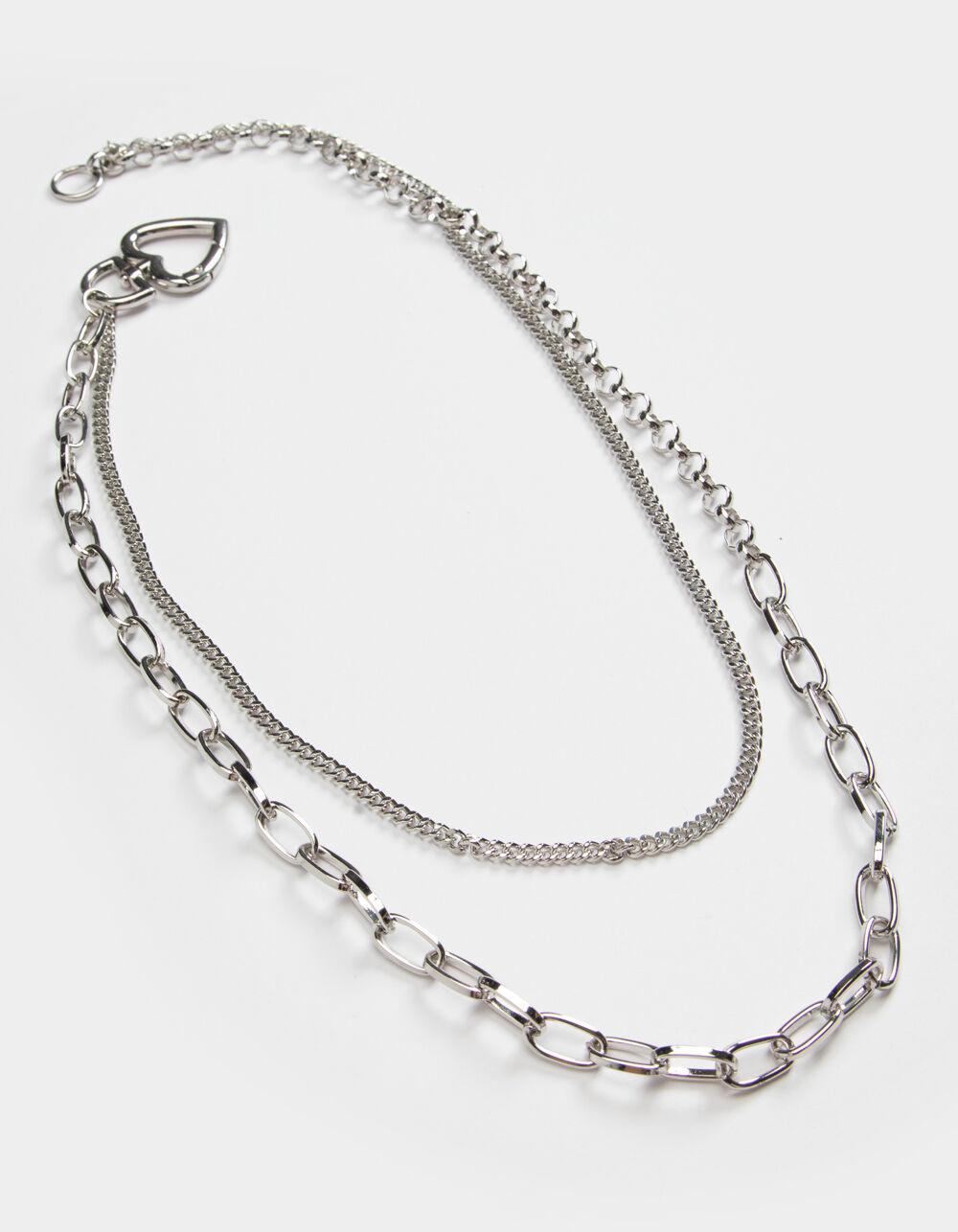 FULL TILT Layered Side Heart Necklace