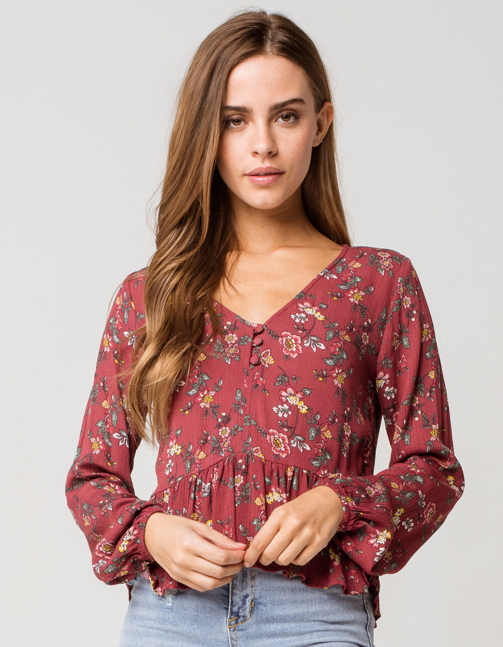 Image of MIMI CHICA Floral Paisley Babydoll Top