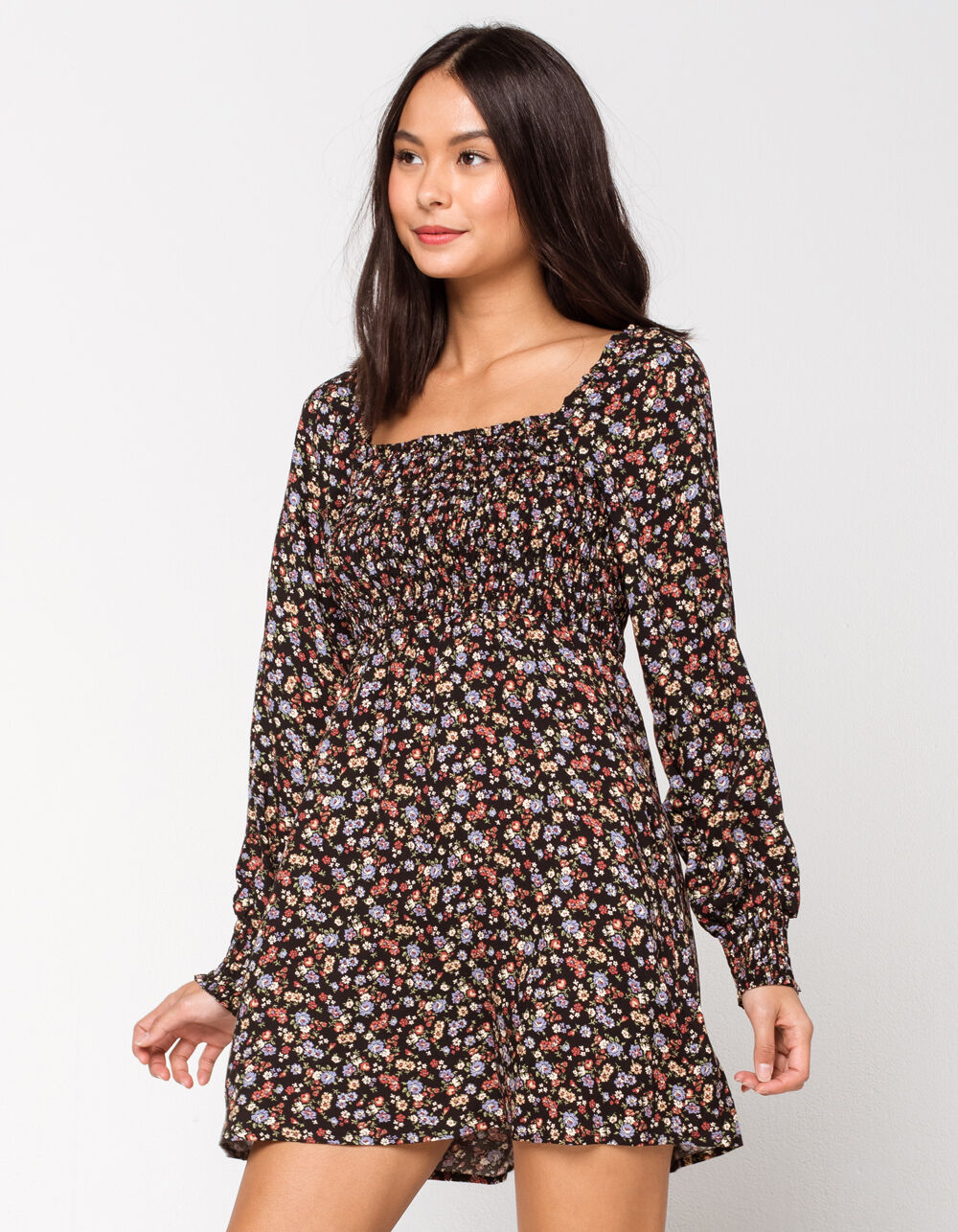 Image of MIMI CHICA Smocked Fit N Flare Dress