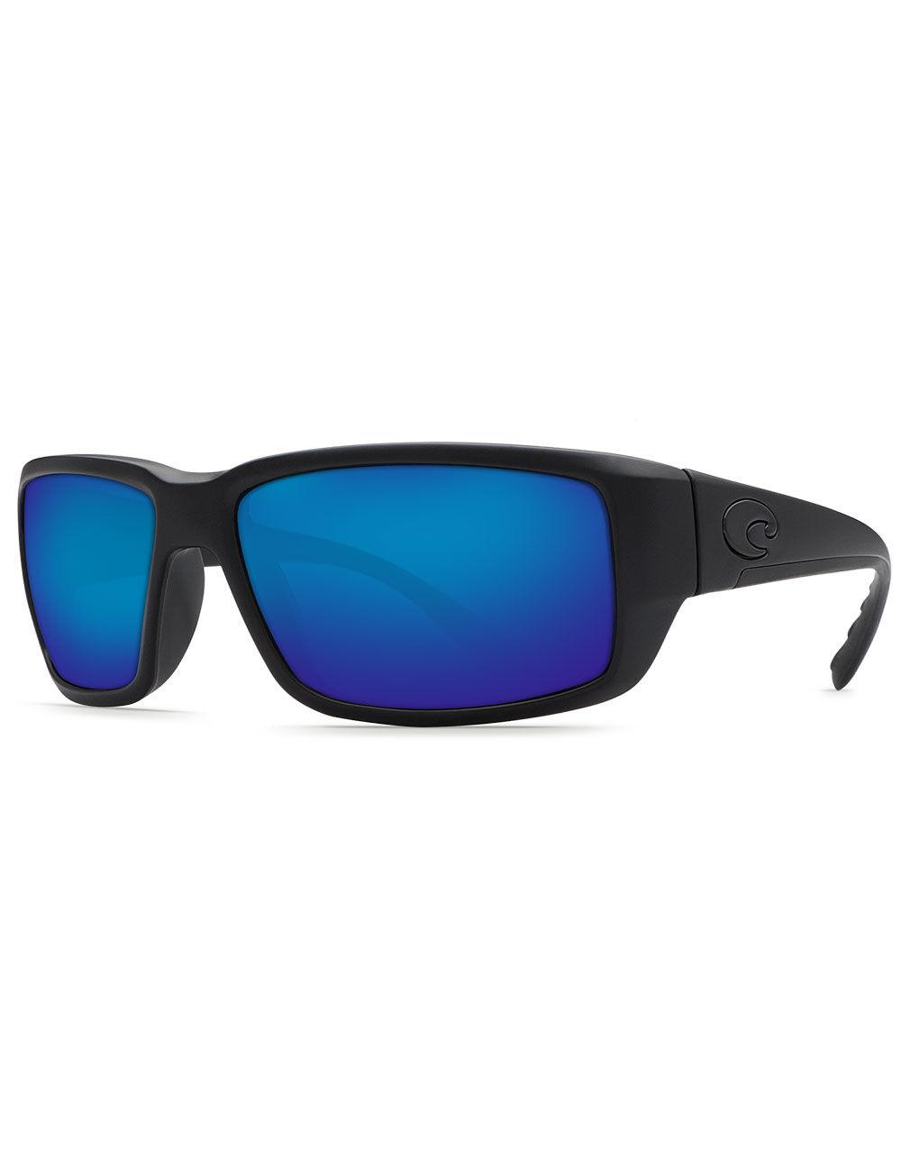 Image of COSTA FANTAIL BLACK & BLUE POLARIZED SUNGLASSES