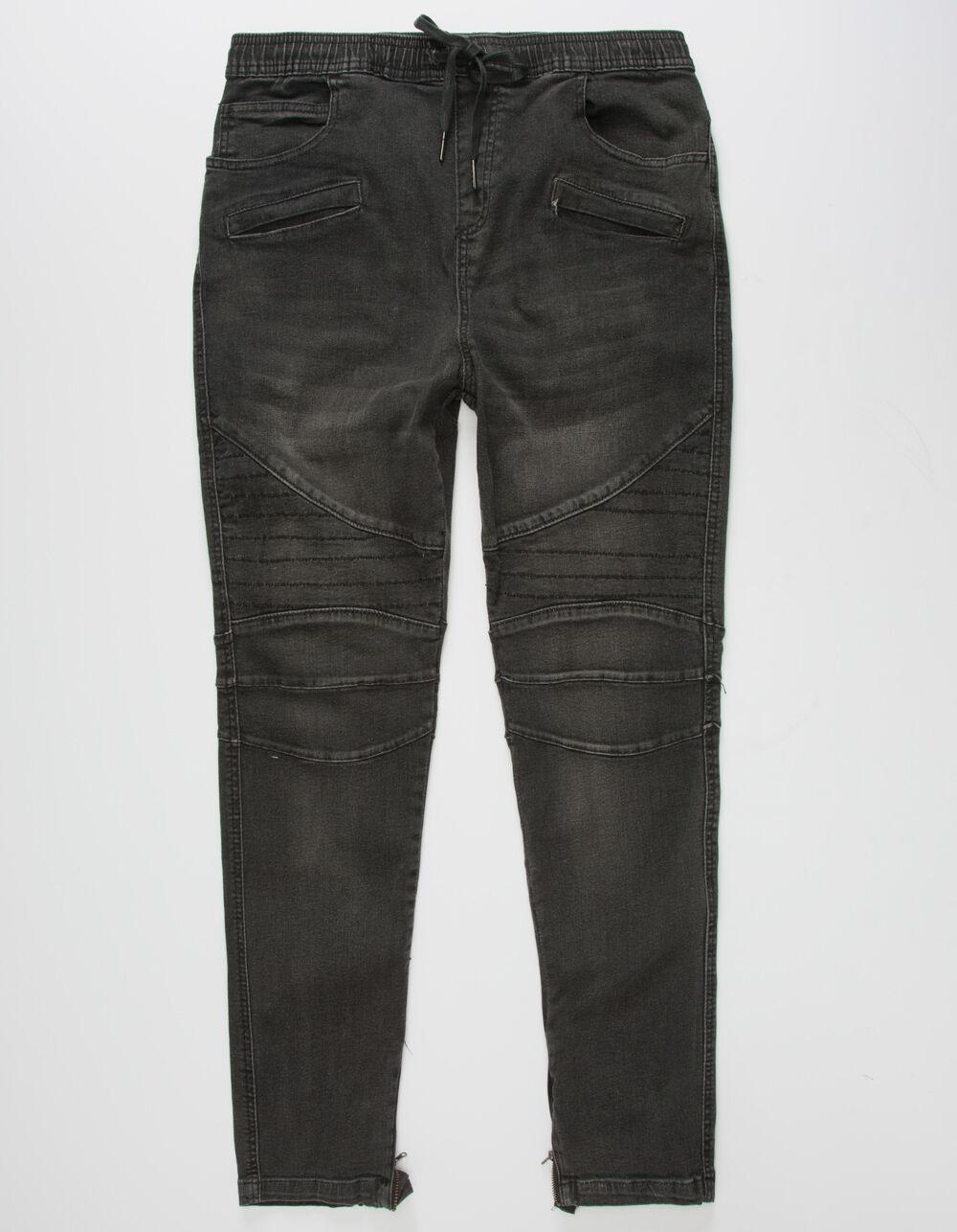 Image of BROOKLYN CLOTH DENIM MOTO JOGGER PANTS