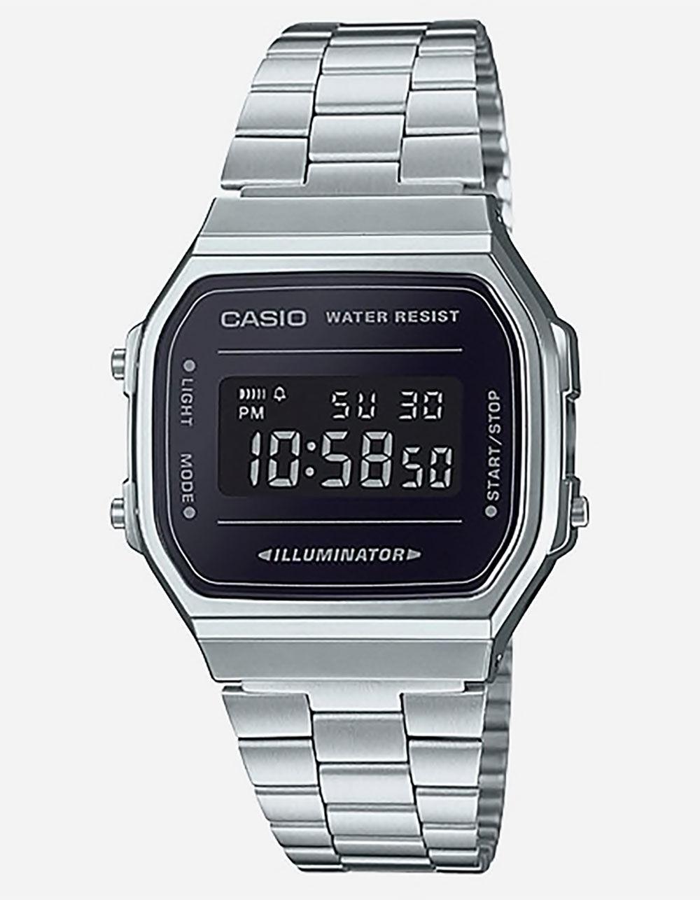 Casio Vintage A168WEM-1 Silver & Black Watch