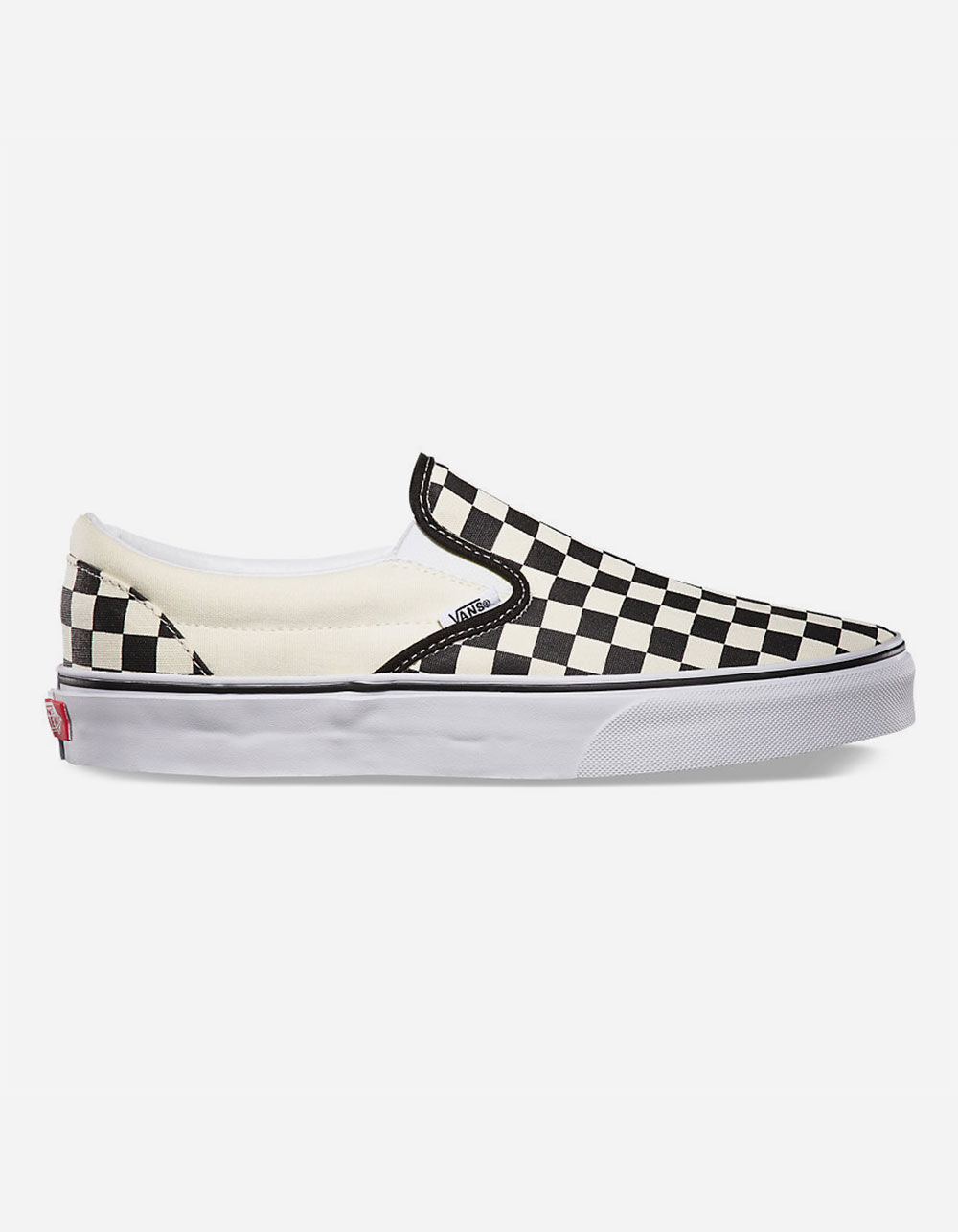 VANS CHECKERBOARD SLIP-ON BLACK & OFF WHITE SHOES
