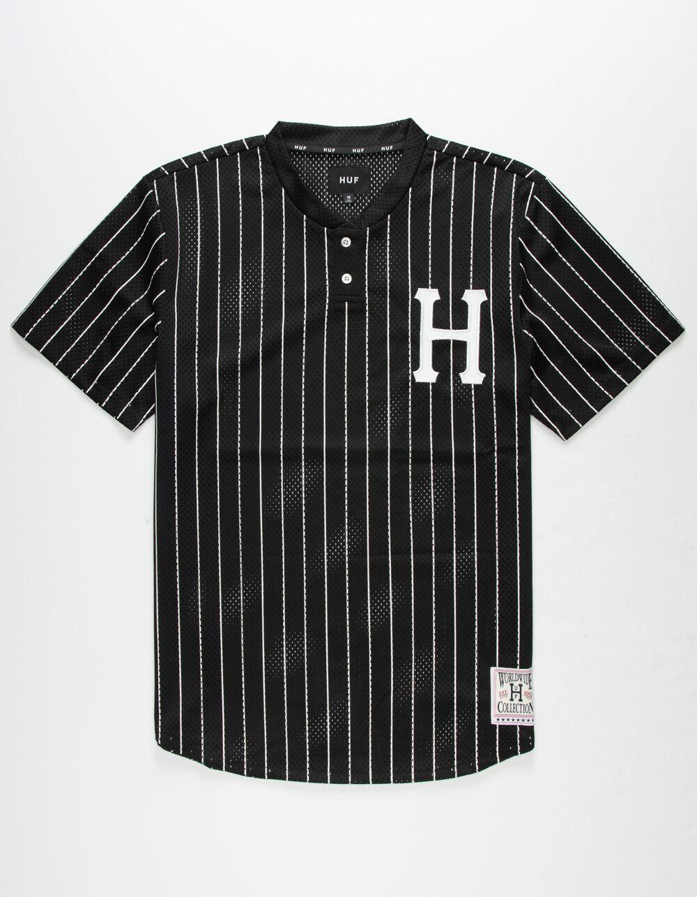 HUF Bronx Henley Black Jersey