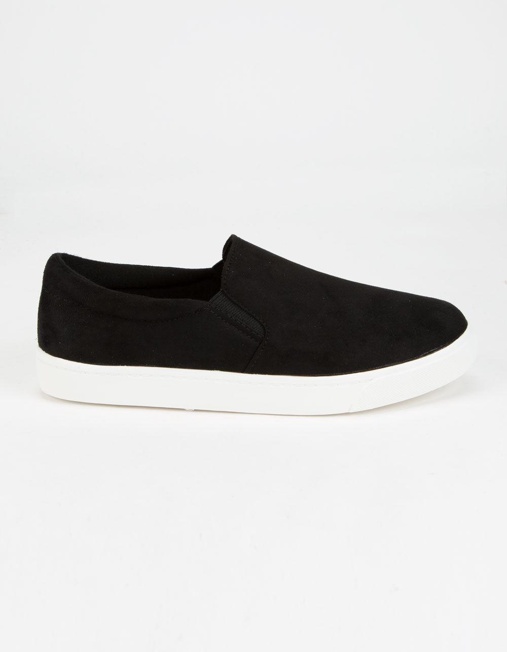SODA Reign Black Slip-On Shoes