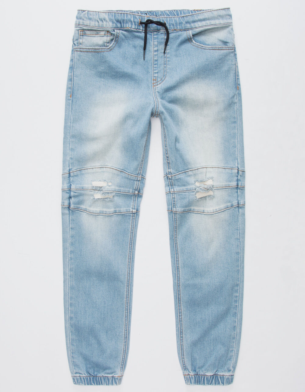 Image of EAST POINTE CALEB BOYS RIPPED DENIM JOGGER PANTS