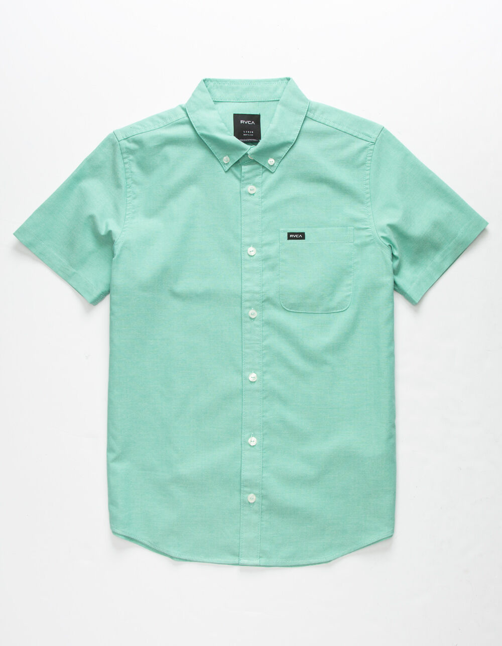 RVCA That'll Do Stretch Boys Teal Green Shirt